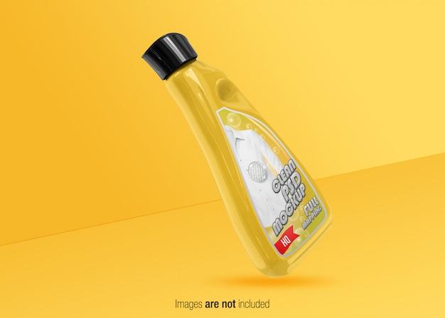 Mockup de frasco detergente do psd