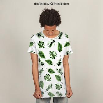 Mockup de impressão de camisetas