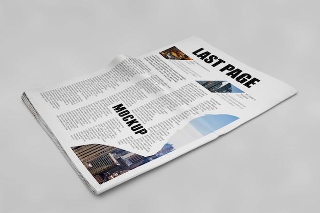 Mockup de jornal