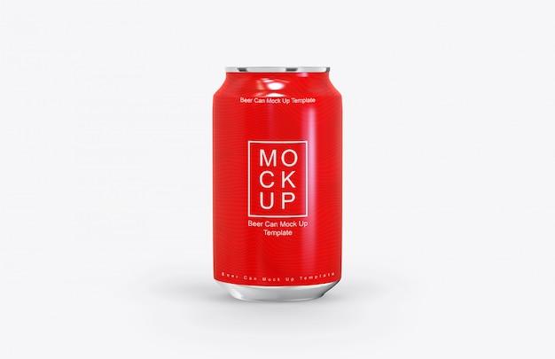 Mockup de lata de cerveja realista