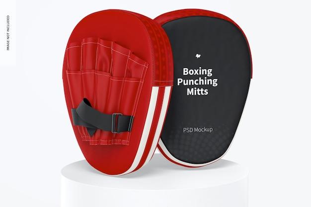 Mockup de luvas de boxe de boxe