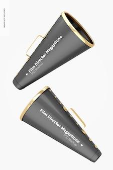 Mockup de megafones do diretor de cinema flutuante