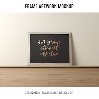 Mockup de molduras de quadros