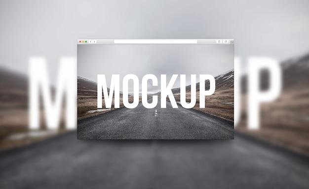Mockup de navegador criativo