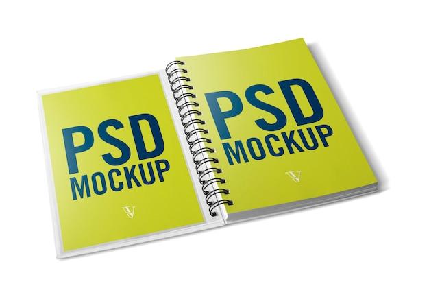 Mockup de notebook aberto