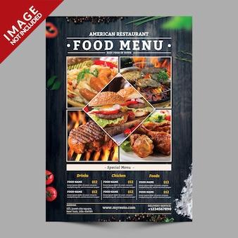 Mockup de panfleto de menu de comida