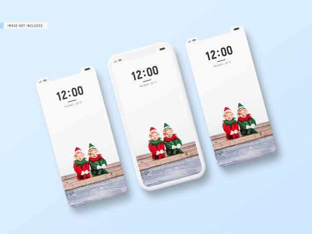 Mockup decorativo mínimo do telefone e da tela do telefone