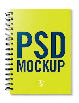 Mockup do caderno de capa