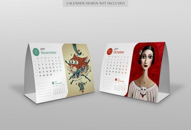 Mockup do calendário moderno