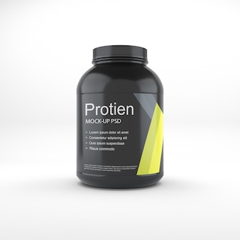 Mockup do frasco de proteína