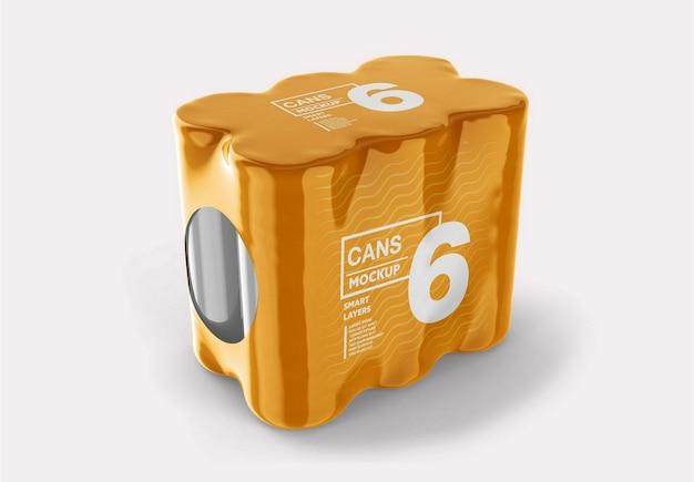 Mockup do pacote de latas
