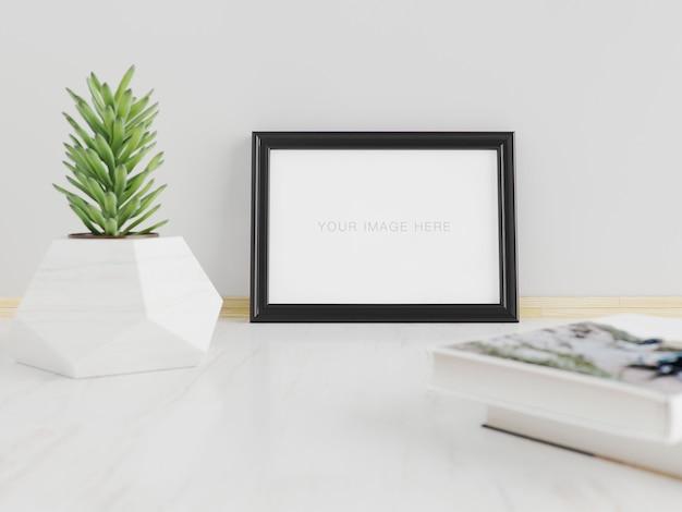 Mockup frame a5 horizontal
