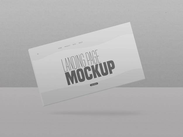 Mockup mínimo do site da página de destino limpa
