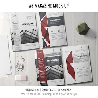 Mockup moderno da revista a5