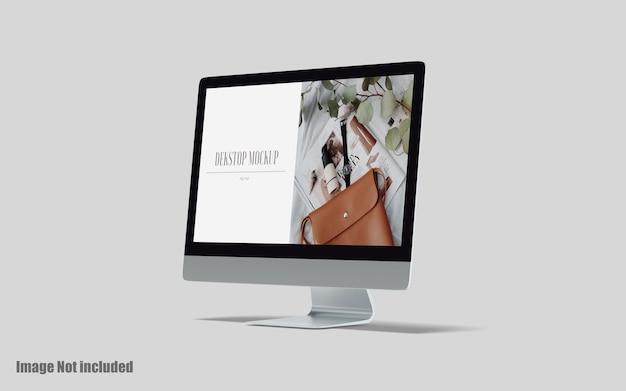 Mockup premium psd da tela da área de trabalho
