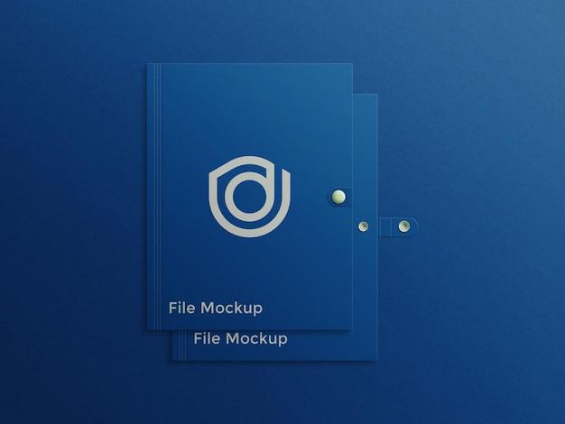 Mockup premium psd do logotipo do suporte de arquivo