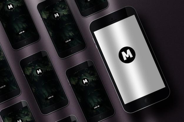 Mockup realista do telefone móvel