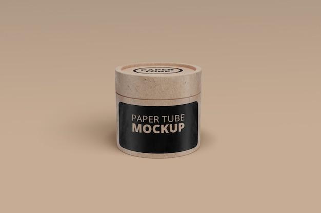 Mockup tubo de papel psd