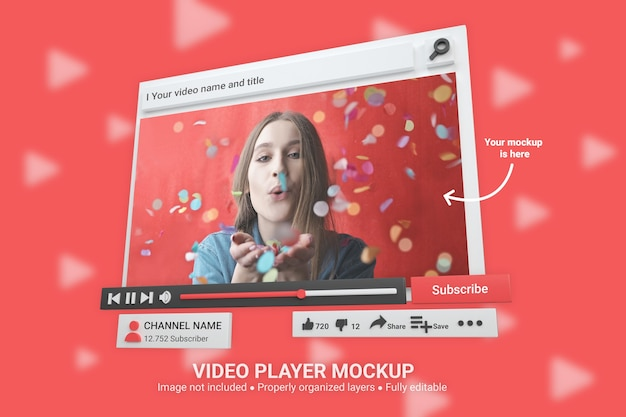 Mockup youtube video player