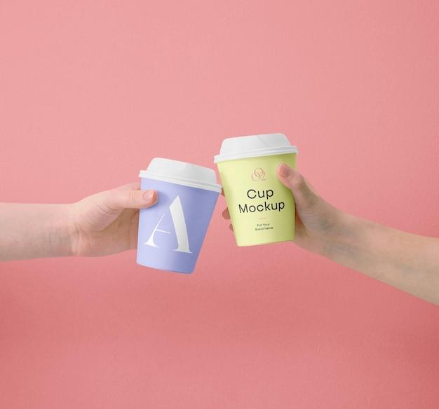 Mockups de mini xícara de café