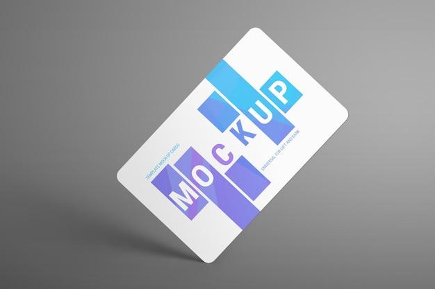 Mockups universais para cartões-presente e de banco