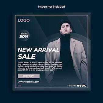 Moda venda instagram mídia social post banner