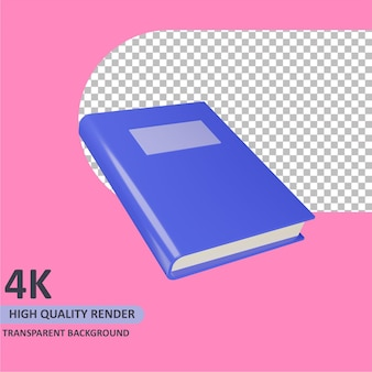 Modelagem de livro de renderização de objeto 3d