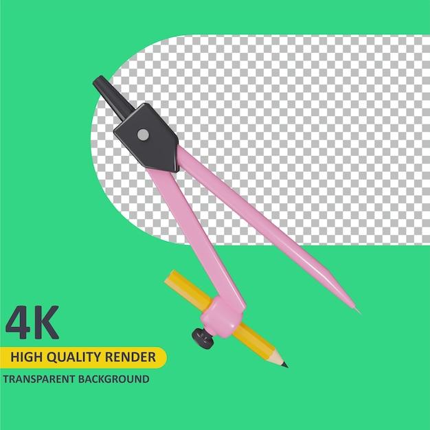 Modelagem de objeto 3d render bússola