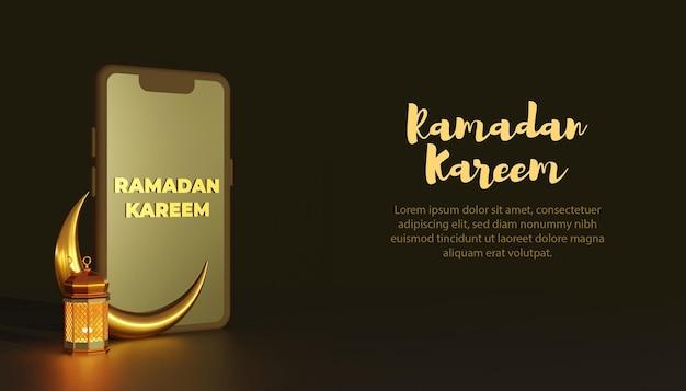 Modelo 3d para smartphone ramadan kareem
