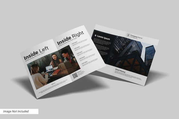 Modelo a4 retrato bifold flyer Psd Premium