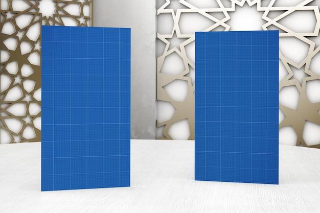 Modelo árabe de design de cartões de visita