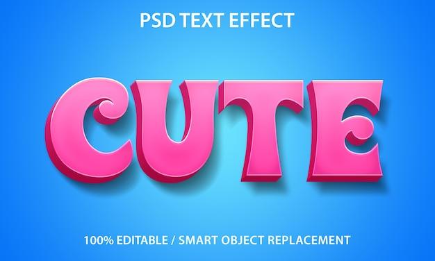 Modelo bonito de efeito de texto