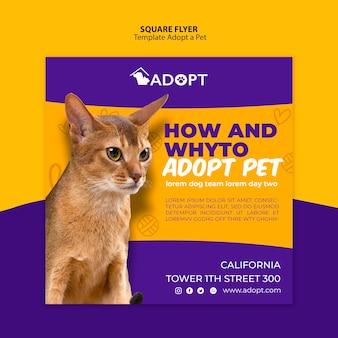 Modelo com adotar um design de folheto para animais de estimação
