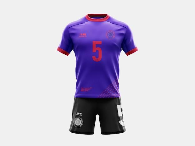 Modelo completo de maquete de futebol e futebol