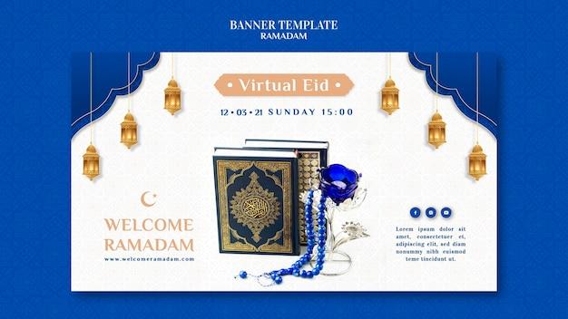 Modelo criativo de banner do ramadã