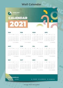Modelo criativo de calendário de negócios