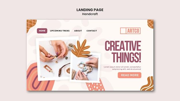 Modelo da web da página de destino de artesanato