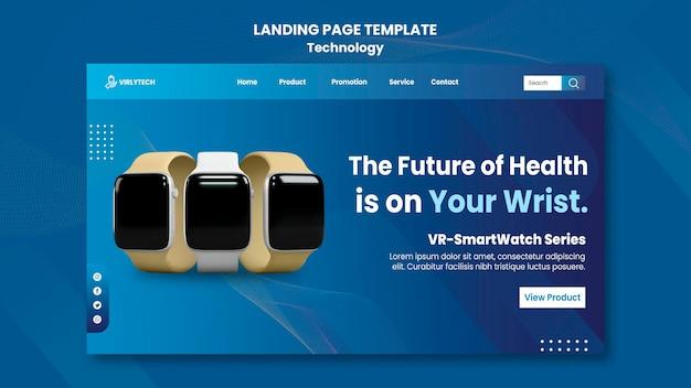 Modelo da web da página de destino de tecnologia
