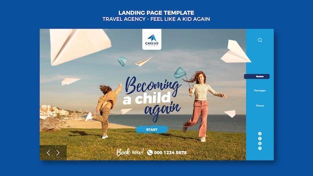 Modelo da web de agência de viagens