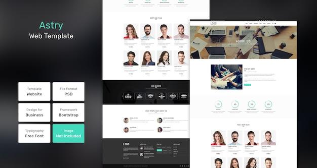 Modelo da web de agência e empresa astry Psd Premium