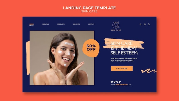 Modelo da web de autocuidado com foto