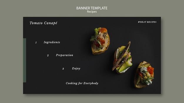 Modelo da web de banner canapés tomate