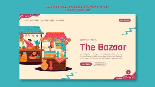 Modelo da web de bazar retrô
