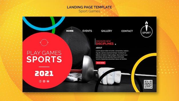 Modelo da web de competição esportiva