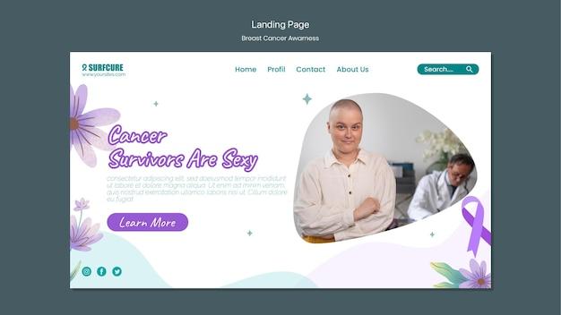 Modelo da web de conscientização sobre câncer de mama