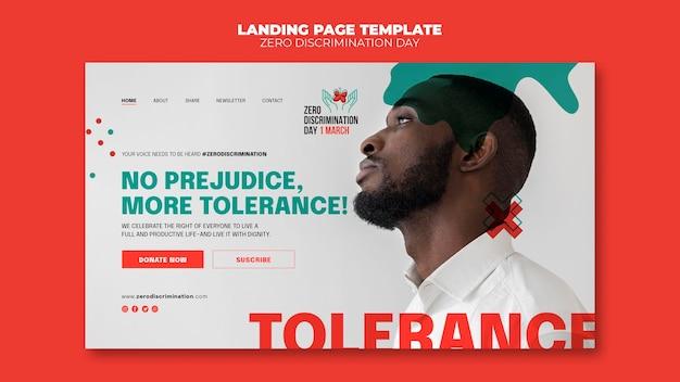 Modelo da web de dia de discriminação zero