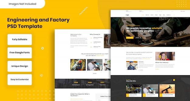 Modelo da web de engenharia e fábrica