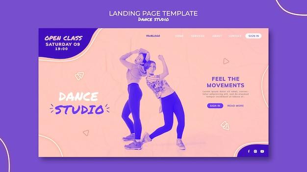 Modelo da web de estúdio de dança