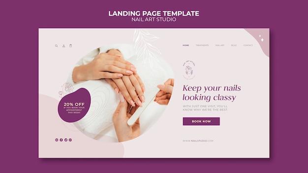 Modelo da web de estúdio de nail art