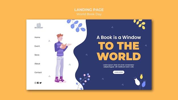 Modelo da web de evento do dia mundial do livro